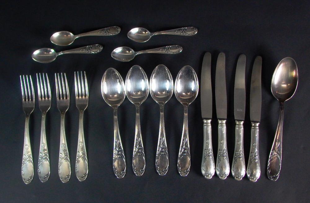 Silber besteck 1930er jahre 4 personen 2 ebay for Wanddeko besteck silber