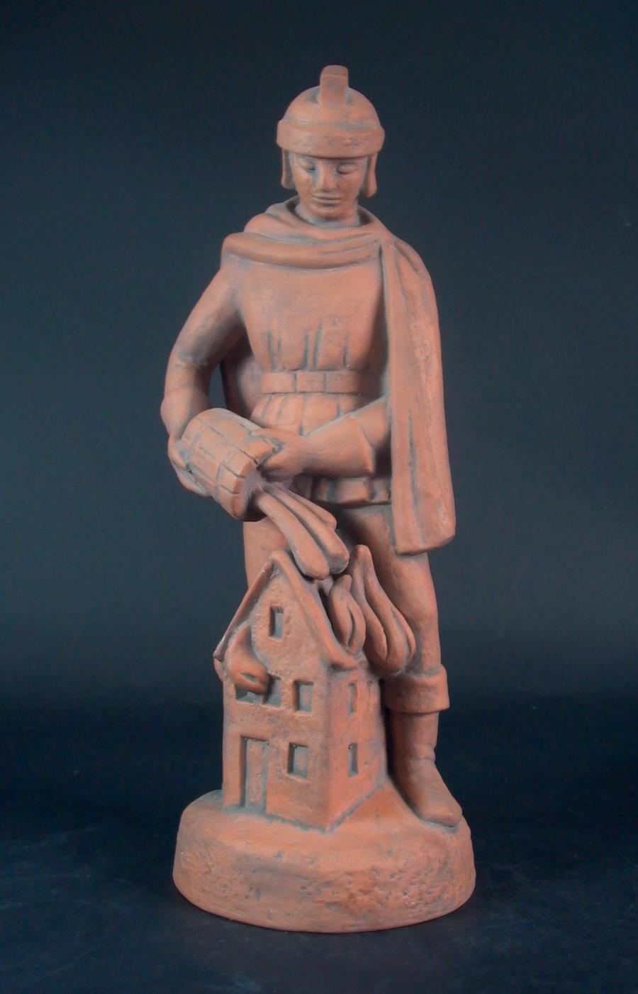 keramik figur heiliger florian karlsruher majolika bayerisch gmain. Black Bedroom Furniture Sets. Home Design Ideas