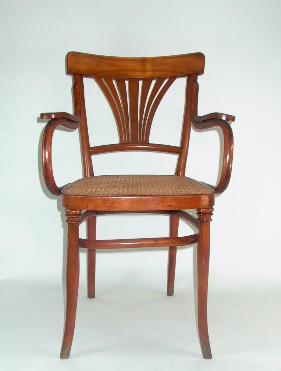 jugendstil bugholz armlehnstuhl 1900 kein thonet. Black Bedroom Furniture Sets. Home Design Ideas