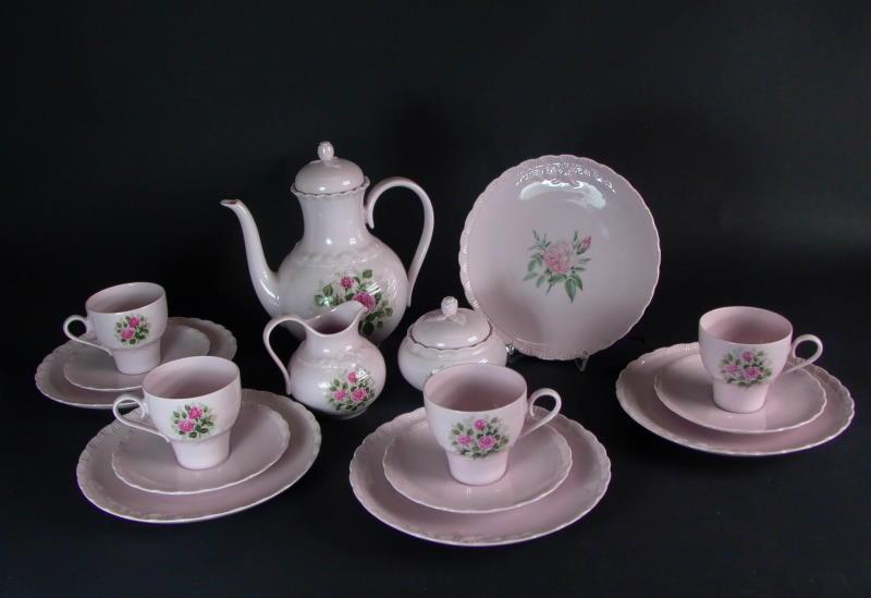 hutschenreuther kaffeeservice porcelaine rose 4 pers ebay. Black Bedroom Furniture Sets. Home Design Ideas