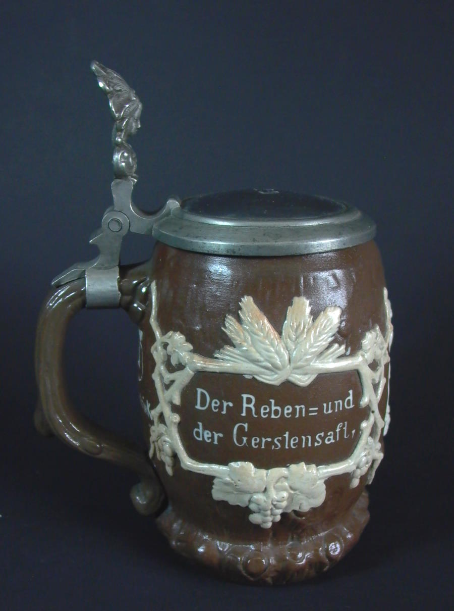 villeroy boch mettlach bierkrug reliefkrug 1900 ebay. Black Bedroom Furniture Sets. Home Design Ideas