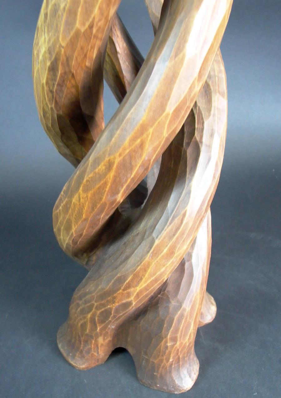 Kerzenständer Holz Geschnitzt ~ Details zu Art Deco Kerzenständer Holz geschnitzt  70cm  sig HE