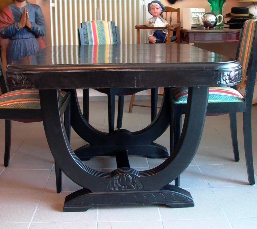 art deco tischgruppe tisch st hle 1920 ebay. Black Bedroom Furniture Sets. Home Design Ideas