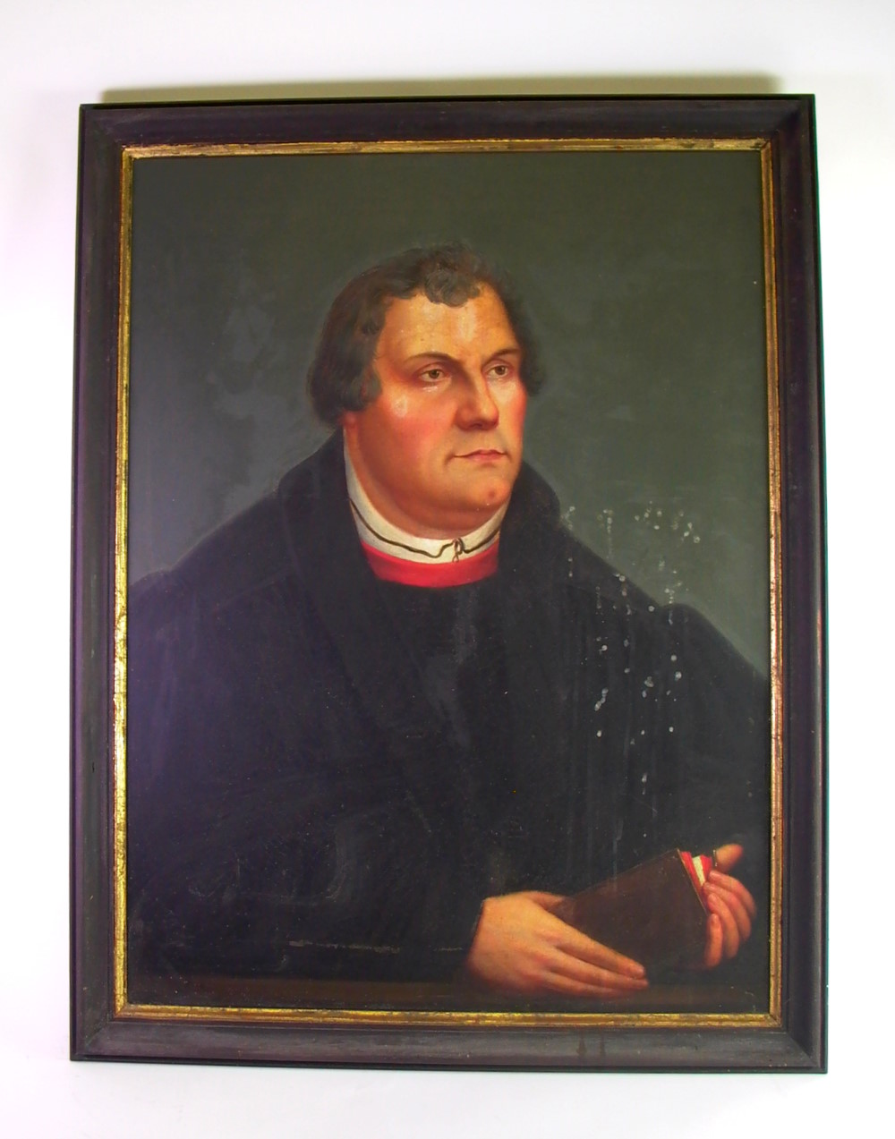 portrait martin luther l auf leinwand 18 19 jhd ebay. Black Bedroom Furniture Sets. Home Design Ideas